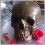Solid chocolate skull with any message!